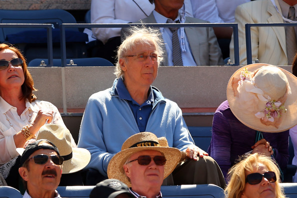 Gene Wilder watches the men's singles semifinal match between Novak Djokovic of Serbia and Stanislas Wawrinka of Switzerland on Day Thirteen of the 2013 US Open at USTA Billie Jean King National Tennis Center on September 7, 2013 in the Flushing neighborhood of the Queens borough of New York City.