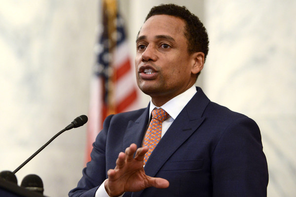 Hill Harper speaks during #JusticReformNow Capitol Hill Advocacy Day at Russell Senate Office Building on April 28, 2016 in Washington, DC.