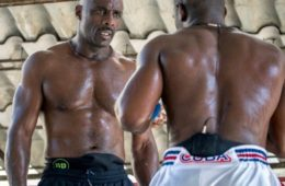 JULY 23, 2016 - HAVANA, CUBA - British actor Idris Elba, left, listens to Emilio Correa, a boxer with the Cuban National team at the Rafael Trejo boxing gym in the Old Havana section of Havana .  The session is part of the Discovery Network show Fighter. Elba is getting ready for his first kick boxing fight which will take place in October of this year. (Photo by Angel Valentin)