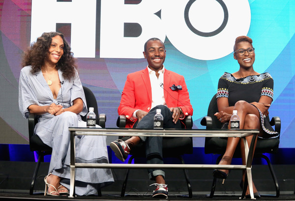 Executive producer/director Melina Matsoukas, executive producer Prentice Penny and actress/executive producer/creator Issa Rae speak onstage during the 'Insecure' panel discussion at the HBO portion of the 2016 Television Critics Association Summer Tour at The Beverly Hilton Hotel on July 30, 2016 in Beverly Hills, California. (July 29, 2016 - Source: Frederick M. Brown/Getty Images North America)