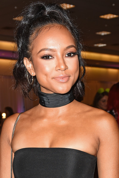 Karrueche Tran attends 'NYX Professional Makeup at BeautyCon LA' at Los Angeles Convention Center on July 9, 2016 in Los Angeles, California.