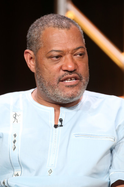 Actor Laurence Fishburne speaks onstage at the 'Black-ish' panel discussion during the Disney ABC Television Group portion of the 2016 Television Critics Association Summer Tour at The Beverly Hilton Hotel on August 4, 2016 in Beverly Hills, California.