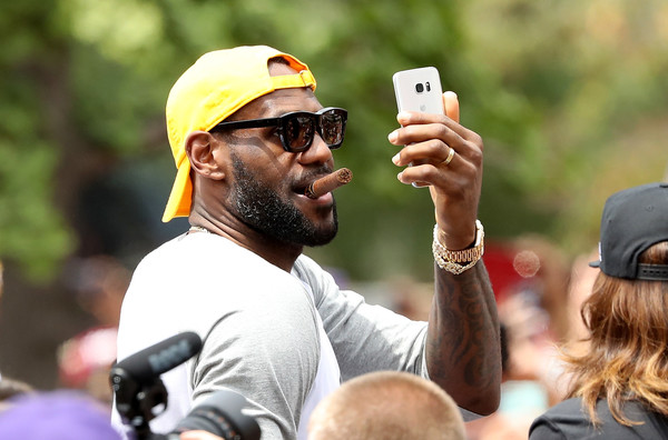 LeBron James #23 of the Cleveland Cavaliers attends the Cleveland Cavaliers 2016 NBA Championship victory parade and rally on June 22, 2016 in Cleveland, Ohio.