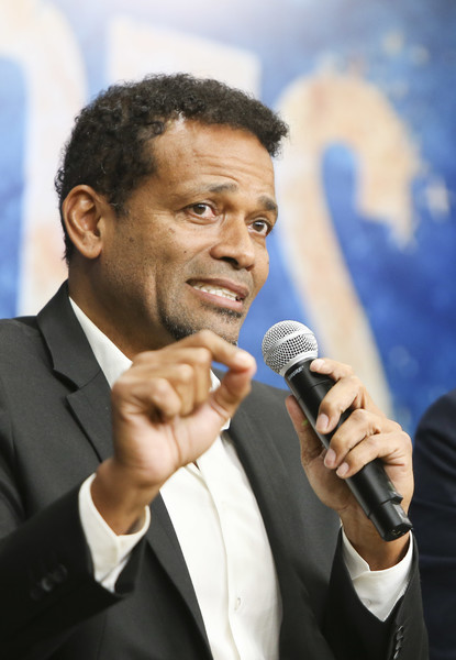 """Director Mario Van Peebles speaks as HISTORY brings the """"Roots"""" cast and Ccrew to The White House for a screening at the Eisenhower Executive Office Building on May 17, 2016 in Washington, DC."""