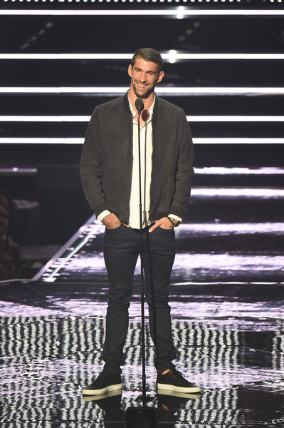 Michael Phelps presents onstage during the 2016 MTV Video Music Awards at Madison Square Garden on August 28, 2016 in New York City.