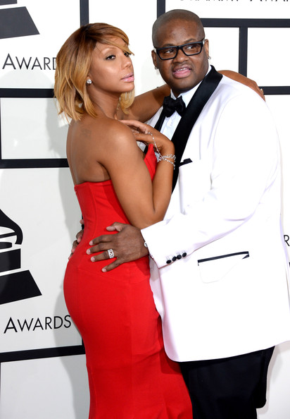 Singer/songwriters Tamar Braxton and Vincent Herbert attend the 56th GRAMMY Awards at Staples Center on January 26, 2014 in Los Angeles, California.