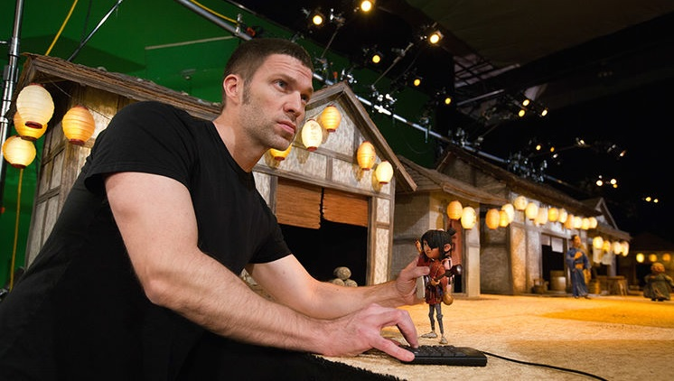 Director & animator Travis Knight, on the set of 'Kubo and the Two Strings'