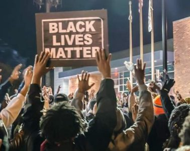 black lives matter - crowd & sign (ferguson1)