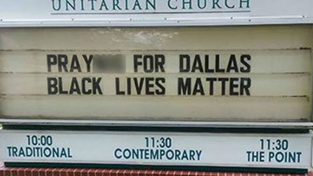 black lives matter - tulsa church sign