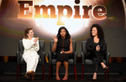 2016 FOX SUMMER TCA: EMPIRE: (L-R) Executive Producer Ilene Chaiken, cast member Taraji P. Henson, and Executive Producer Sanaa Hamri during the EMPIRE panel at the 2016 FOX SUMMER TCA, Monday, Aug. 8 at the Beverly Hilton in Beverly Hills, CA. CR: Frank Micelotta/FOX