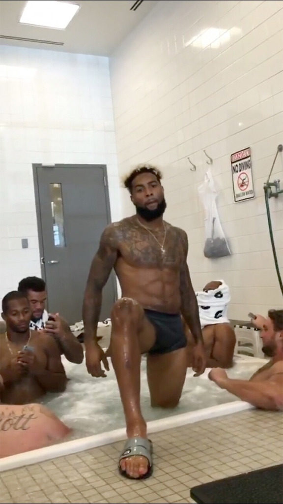 meanwhile odell beckham jr is causing a frenzy once again with his