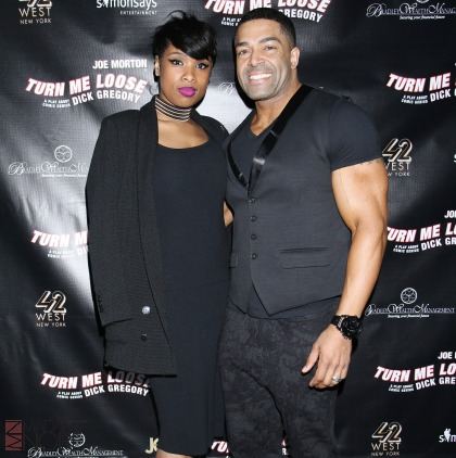 Opening night of Turn Me Loose at the West Side Theatre - Arrivals. Featuring: Jennifer Hudson, David Otunga Where: New York, New York, United States When: 20 May 2016 Credit: Joseph Marzullo/WENN.com **No Contact Music**