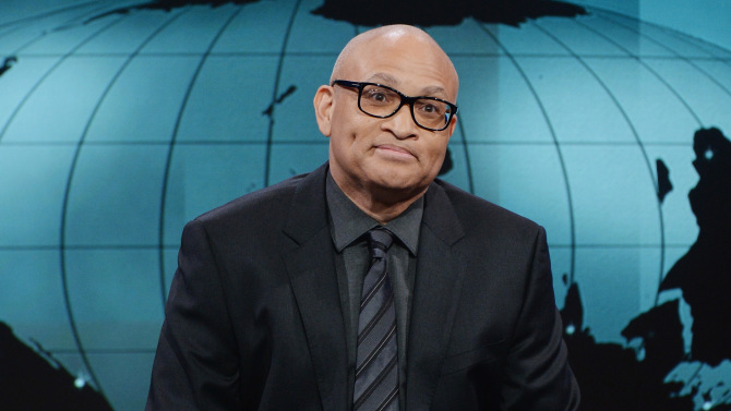 """Host Larry Wilmore appears on the debut episode of Comedy Central's """"The Nightly Show with Larry Wilmore"""" at The Nightly Show Studios on January 19, 2015 in New York City.  (Photo by Stephen Lovekin/Getty Images for Comedy Central)"""