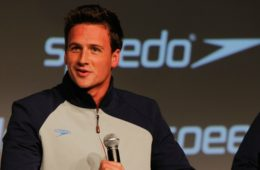 Ryan Lochte during a press conference to debut the new Speedo FASTSKIN 3, the newest pioneering swimwear worn during the 2012 Olympic in London at Skylight Studios on November 25, 2011 in NYC.