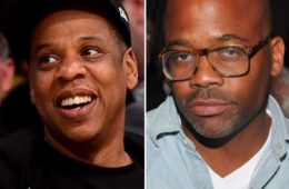 Jay Z (L) and Damon Dash
