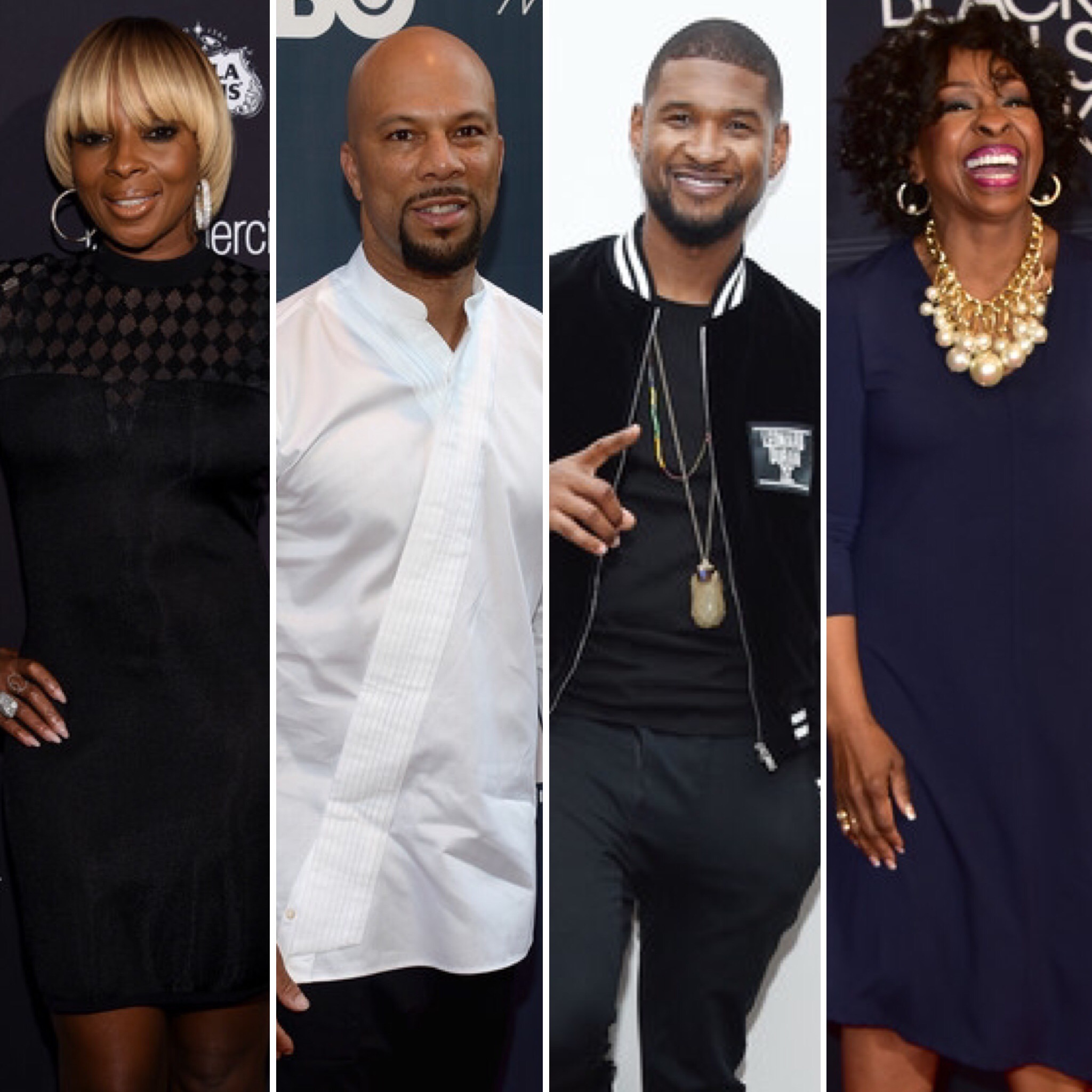 (L-R) Mary J. Blige, Common, Usher and Gladys Knight