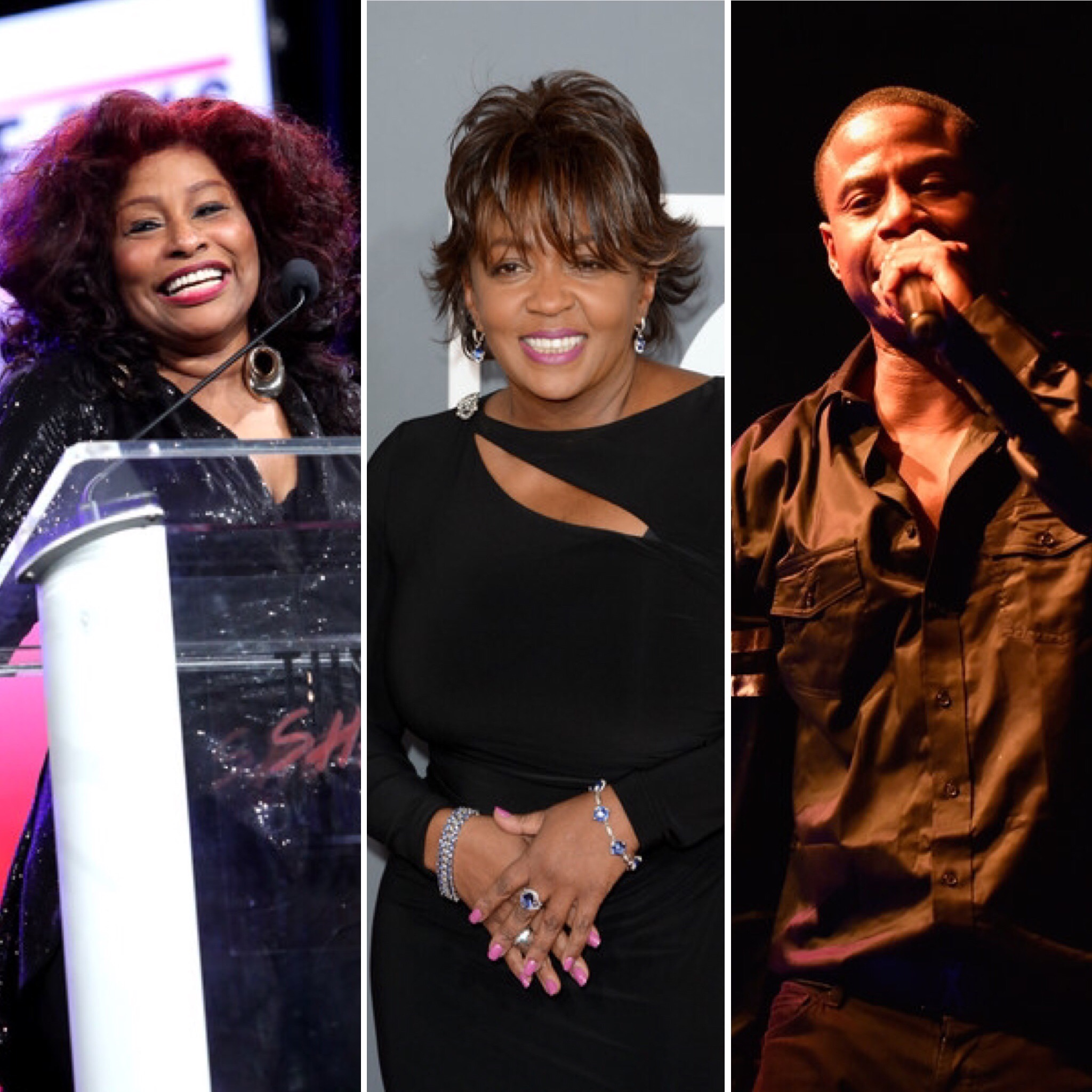 (L-R): Chaka Khan, Anita Baker and Doug E. Fresh
