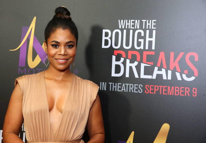 """Regina Hall attends the Screen Gems premiere of """"When the Bough Breaks"""" at Regal Cinemas L.A. Live on Sunday, August 28, 2016, in Los Angeles."""