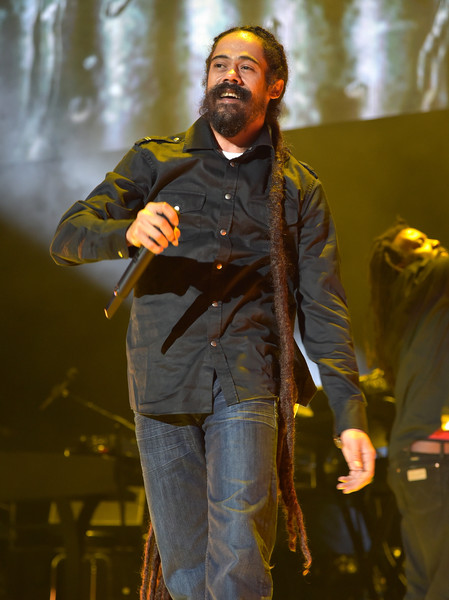 Musician Damian Marley performs onstage during TIDAL X: 1020 Amplified by HTC at Barclays Center of Brooklyn on October 20, 2015 in New York City.