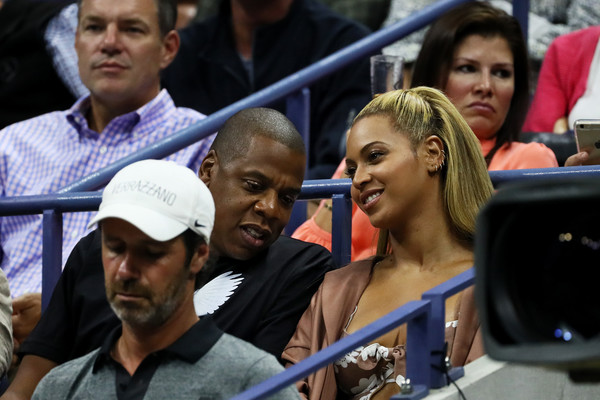 Jay-Z and Beyonce watch the second round Women's Singles match between Serena Williams of the United States and Vania King of the United States on Day Four of the 2016 US Open at the USTA Billie Jean King National Tennis Center on September 1, 2016 in the Flushing neighborhood of the Queens borough of New York City.
