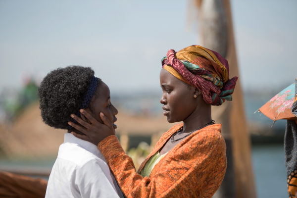 Lupita Nyong'o and Madina Nalwanga star in the triumphant true story QUEEN OF KATWE, directed by Mira Nair. Photo courtesy © 2016 Disney Enterprises, Inc. All Rights Reserved.