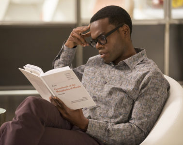 "THE GOOD PLACE -- ""Pilot"" -- Pictured: William Jackson Harper as Chidi -- (Photo by: Justin Lubin/NBC)"
