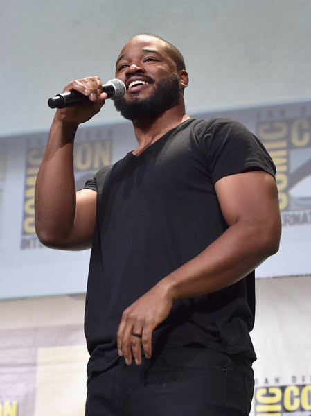 """Director Ryan Coogler from Marvel Studios' """"Black Panther"""" attends the San Diego Comic-Con International 2016 Marvel Panel in Hall H on July 23, 2016 in San Diego, California. ©Marvel Studios 2016"""