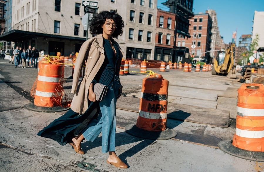 """Solange Knowles for Michael Kors """"The Walk"""" campaign. (Photo: Michael Kors/Tommy Ton)"""
