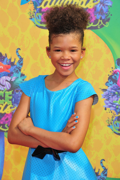 Actress Storm Reid attends Nickelodeon's 27th Annual Kids' Choice Awards held at USC Galen Center on March 29, 2014 in Los Angeles, California.