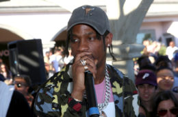 Rapper Travis Scott performs at REVOLVE Desert House on April 17, 2016 in Thermal, California.