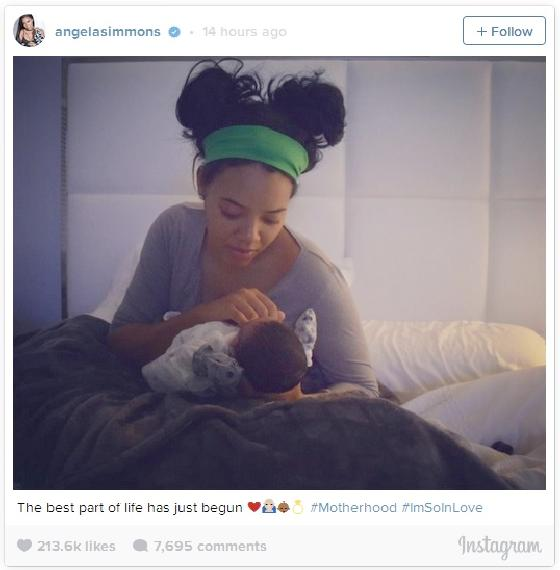 angela simmons shows off new baby nia long joins dear white