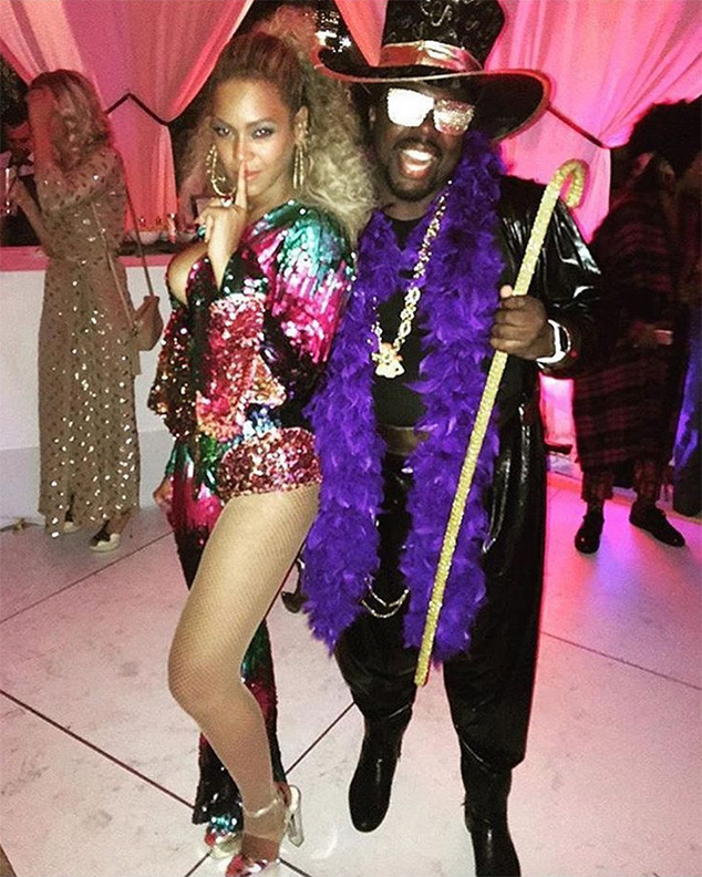 Beyonce at her 35th birthday party (Instagram)