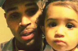 Chris Brown and his daughter Royalty (Instagram)