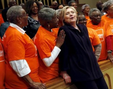 hillary & black choir