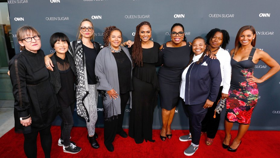 Ava DuVernay and Oprah Winfrey with the all-female directorial team.
