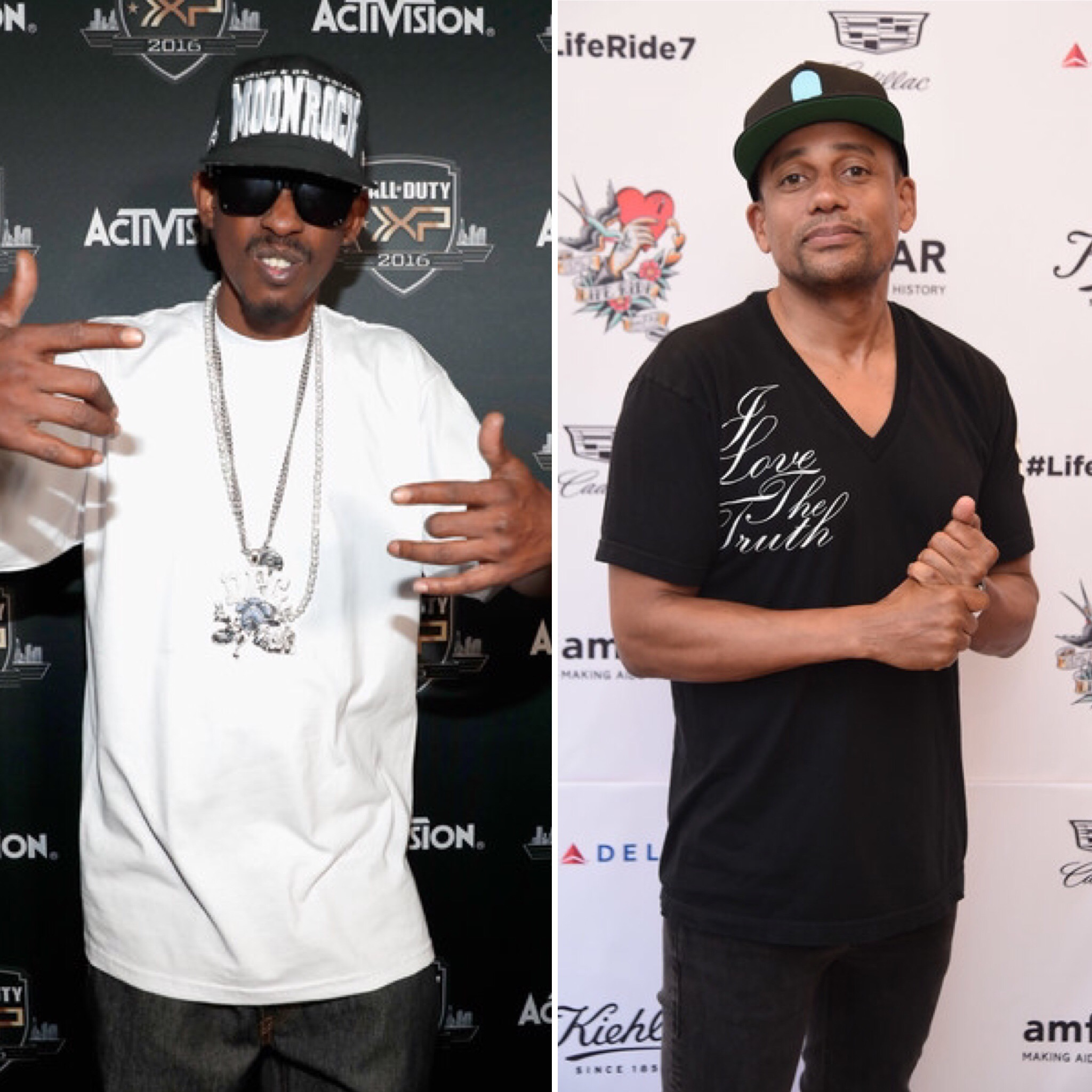 Kurupt (L) and Hill Harper (Getty Images)