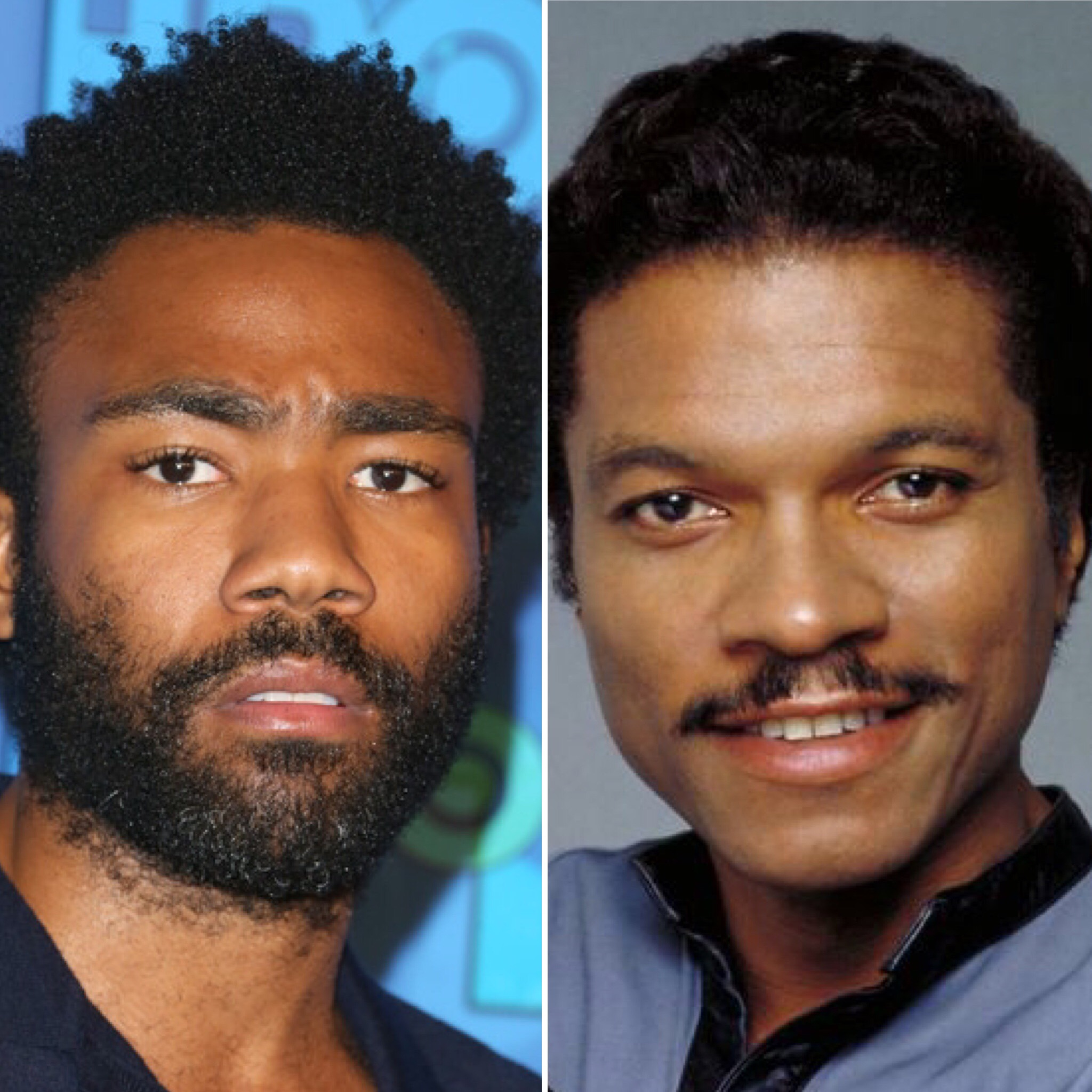 Donald Glover (L) and Billy Dee Williams