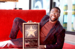Honoree Kevin Hart poses for a photo as he is honored with a star on the Hollywood Walk of Fame on October 10, 2016 in Hollywood, California.