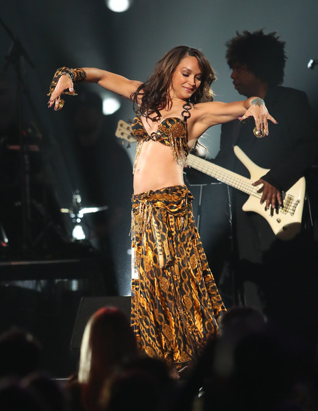 """Mayte Garcia performs during the """"Official Prince Tribute-A Celebration of Life and Music,"""" concert at Xcel Energy Center on October 13, 2016 in St Paul, Minnesota."""