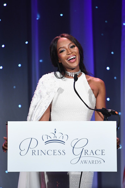 Model Naomi Campbell speaks onstage during the 2016 Princess Grace Awards Gala with presenting sponsor Christian Dior Couture at Cipriani 25 Broadway on October 24, 2016 in New York City.