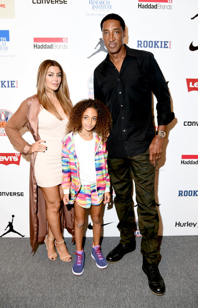 (L-R) Larsa Pippen, Scottie Pippen, and Sophia Pippen attend Rookie USA Presents Kids Rock! during New York Fashion Week: The Shows September 2016 at The Dock, Skylight at Moynihan Station on September 8, 2016 in New York City.