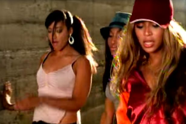 """Shirlene Quigley (L) in Beyonce's """"Crazy in Love"""" video"""