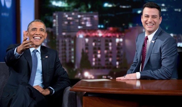 President Barack Obama reads mean tweets about himself