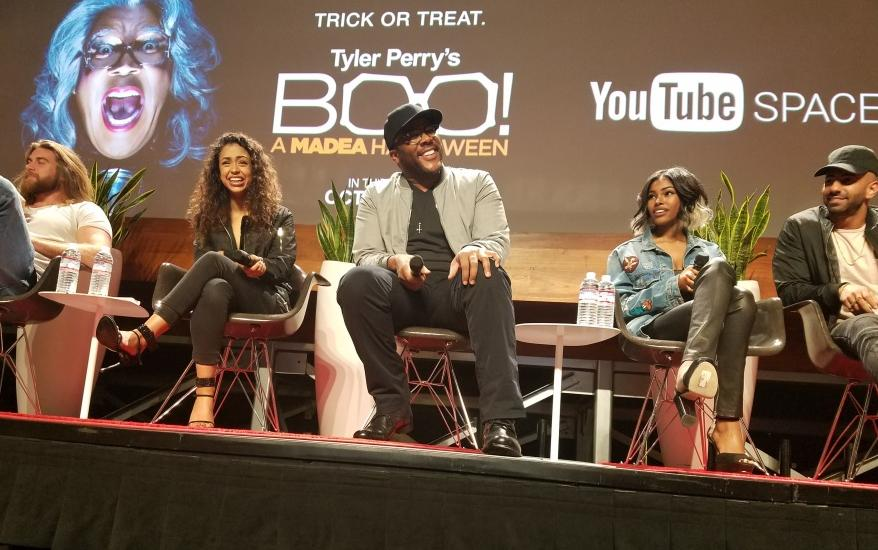 tyler perry boo a madea halloween cast do youtube space la q a