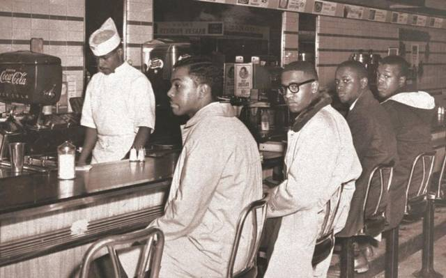 Joseph McNeil (from left), Franklin McCain, Billy Smith and Clarence Henderson take