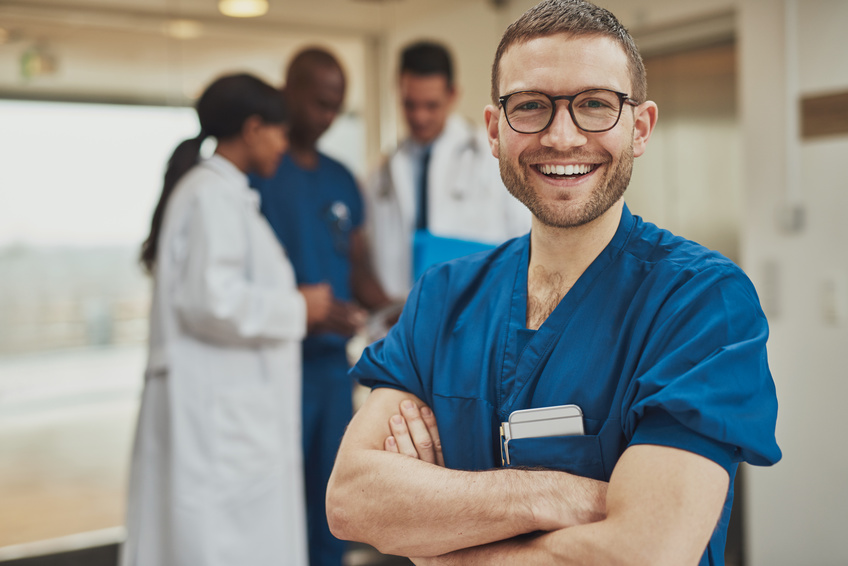 Stock photo of a doctor that never gets asked to show his credentials.