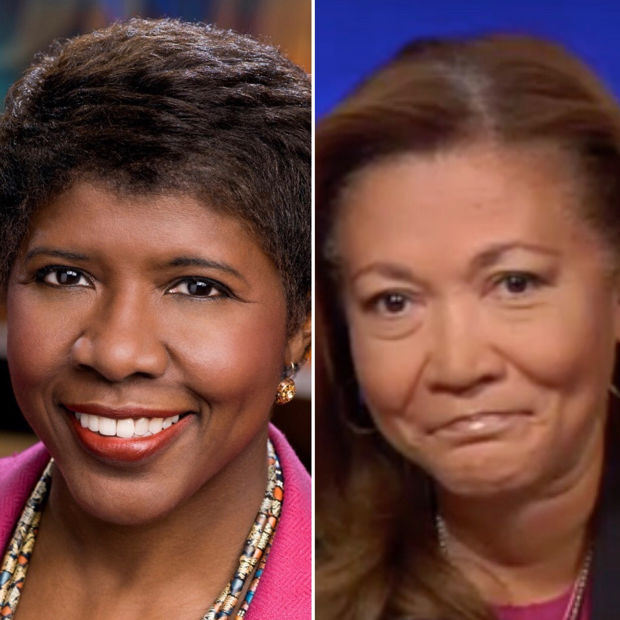 Gwen Ifill (L) and Michele Norris