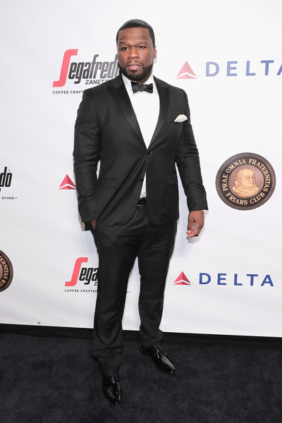 Rapper 50 Cent attends the Friars Club Honors Martin Scorsese With Entertainment Icon Award at Cipriani Wall Street on September 21, 2016 in New York City.