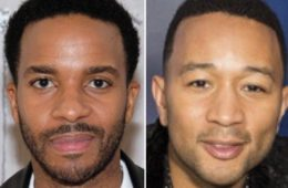 Andre Holland (L) and John Legend
