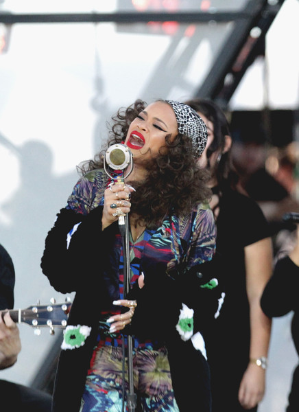 Singer Andra Day performs onstage at Univision and Fusion host RiseUp AS ONE at Cross Border Xpress on October 15, 2016 in San Diego, California.